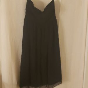 J. Crew all black strapless dress
